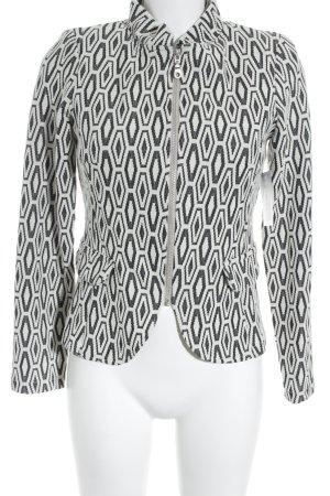 Imagio Blazer en laine noir-blanc cassé élégant