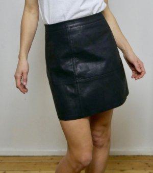 New Look Jupe en cuir synthétique noir