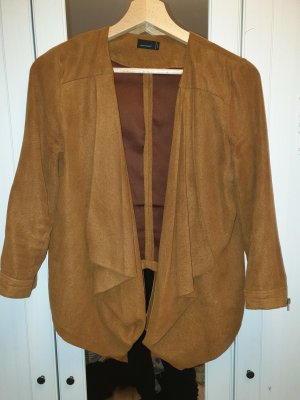 Leather Blazer brown-cognac-coloured