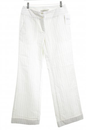 imitz Marlene Trousers cream-light brown striped pattern