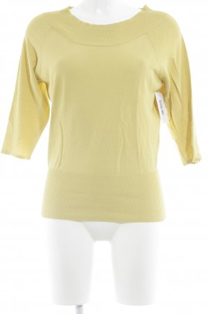 imitz Knitted Sweater lime yellow classic style