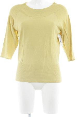 imitz Gebreide trui limoen geel klassieke stijl