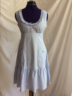 Imitz süßes Sommerkleid in blauweiß