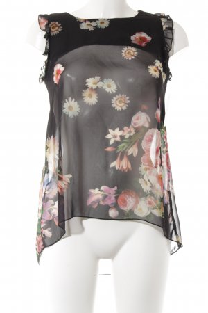 Imperial ärmellose Bluse schwarz Blumenmuster Casual-Look