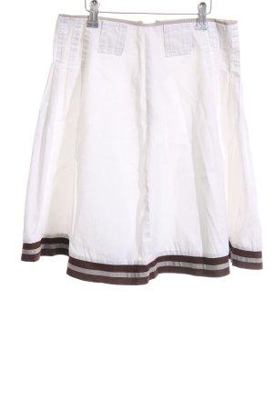 Imperial Faltenrock weiß-braun Casual-Look