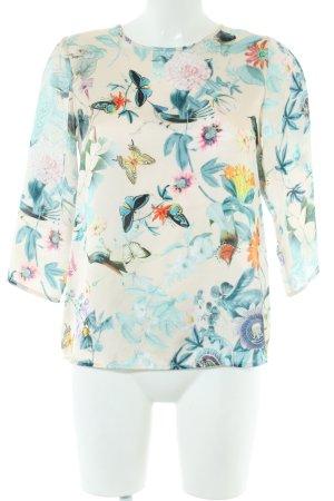 Imperial Glanzende blouse bloemenprint casual uitstraling