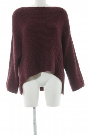 Imperial Grobstrickpullover bordeauxrot Casual-Look