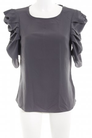 Imperial Kurzarm-Bluse anthrazit schlichter Stil