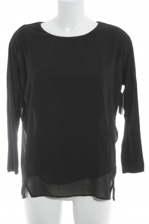 Imperial Langarm-Bluse schwarz Casual-Look