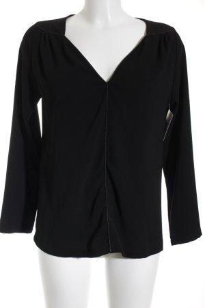 Imperial Langarm-Bluse schwarz Elegant