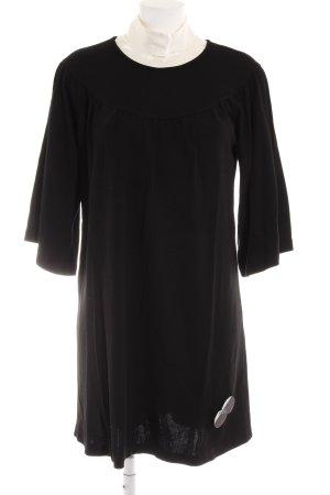 Imperial Langarmkleid schwarz-weiß Elegant