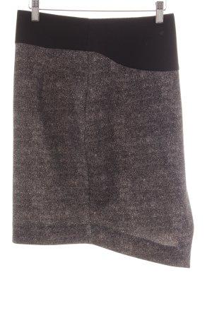 Imperial Minirock schwarz-grau meliert Wickel-Look