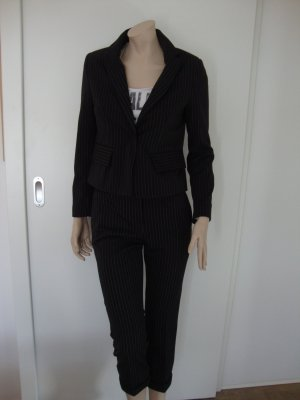 Imperial Trouser Suit black-white polyester