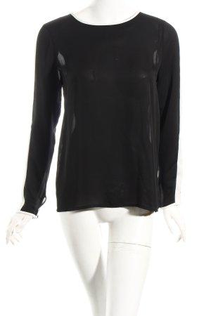 Imperial Schlupf-Bluse schwarz-weiß Transparenz-Optik