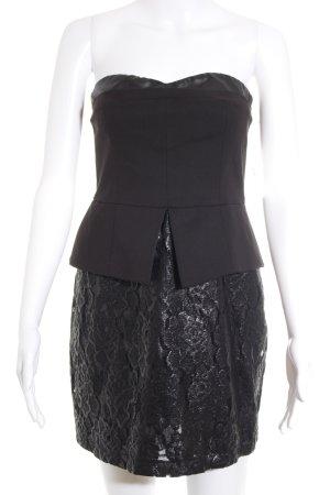 Imperial Schößchenkleid schwarz Elegant