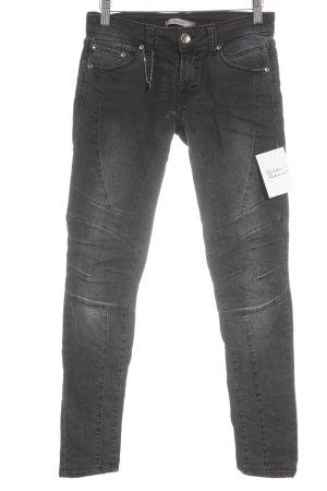 Imperial Skinny Jeans schwarz-wollweiß minimalistischer Stil