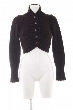 Imperial Knitted Bolero black simple style