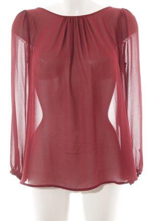 Imperial Transparenz-Bluse dunkelrot Elegant