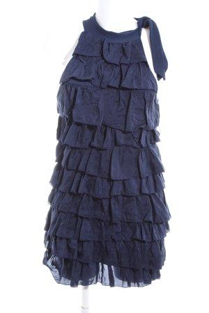 Imperial Volantkleid blau Elegant