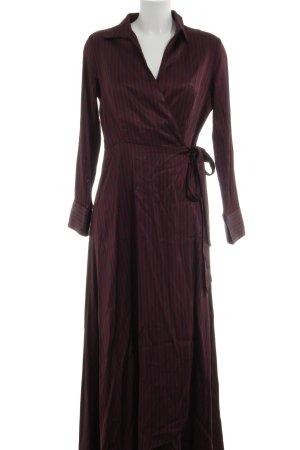 Imperial Wickelkleid rot-schwarz Streifenmuster Business-Look