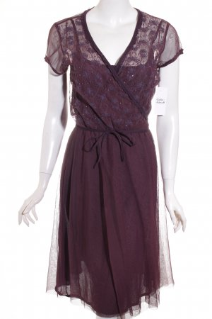 Implicate Woman Transparenz-Bluse dunkelviolett florales Muster Casual-Look