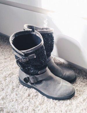 Impressionen Boots Stiefeletten Pailletten