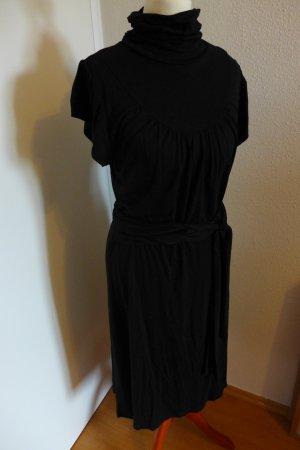 Impressionen Conley's Pureday Kleid Stehkragen schwarz, Gr. S NEU