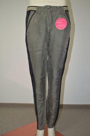 Impressionen Fashion - coole Hose schwarz grün fließend ~ Gr 36 S NEU