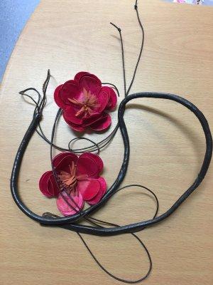 Impressionen Leder Gürtel mit Blumen , neuwertig