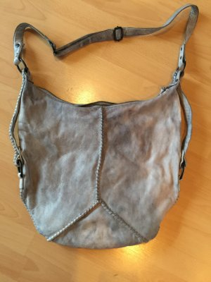 Impressionen Pouch Bag light grey-silver-colored leather
