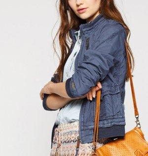 Impressionen NEU!! KHUJO Cargo-Jacke Mantel in lila GR S Herbst Parka Blogger