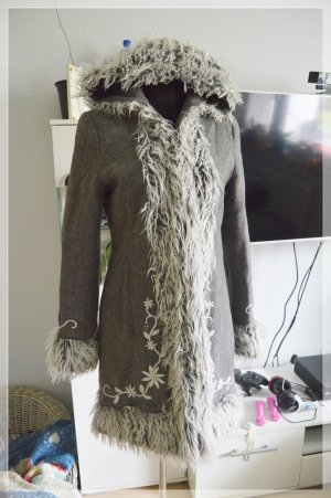 Impuls for H&M Mantel Wolle Jacke übergang gr.S