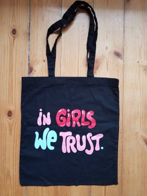 in Girls we trust Hipster Tasche Leinenbeutel