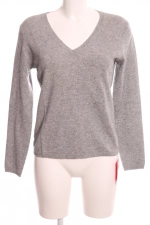 In Linea Cashmere Jumper natural white-brown flecked casual look