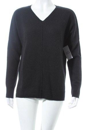 In Linea Cashmerepullover schwarz minimalistischer Stil