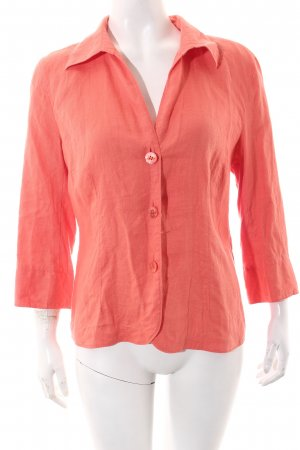 In Linea Linnen blouse zalm casual uitstraling