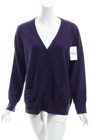 In Linea Pull en cashemire violet foncé style classique