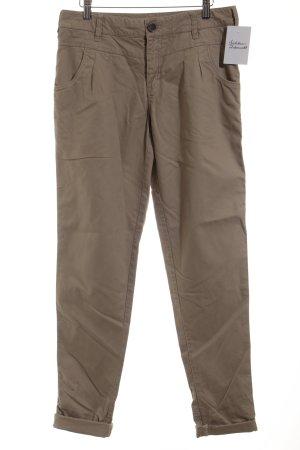In Wear Pantalon taille haute chameau style décontracté