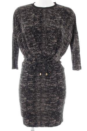 In Wear Langarmkleid schwarz-wollweiß Farbtupfermuster schlichter Stil