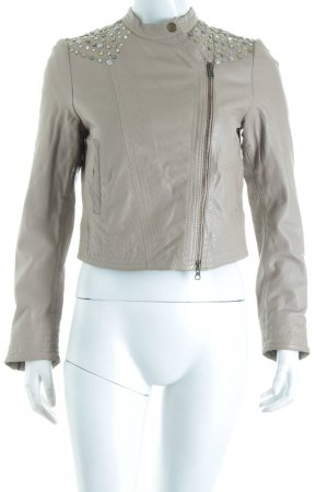 In Wear Lederjacke beige Street-Fashion-Look