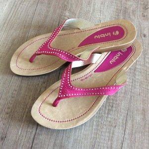 High-Heeled Toe-Post Sandals violet-beige