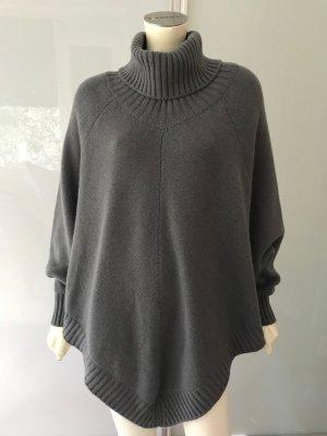 Incentive by Sasa Cashmere Pullover Cape Grau M 100% Kaschmir Poncho Grey NEU