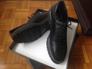 Inci Lace Shoes black-silver-colored