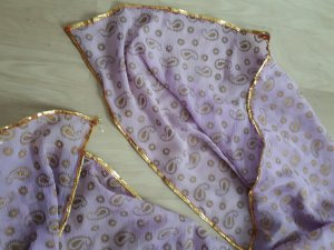 Pieces Summer Scarf gold-colored-mauve