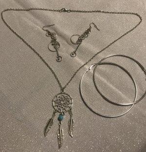 Ketting zilver-turkoois