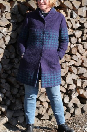Evelin Brandt Berlin Knitted Coat blue-turquoise