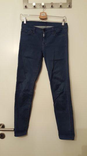Indigofarbene Skinny Jeans
