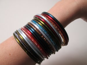 Bangle multicolored cashmere