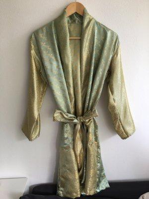 Veste cache-coeur vert gazon-doré