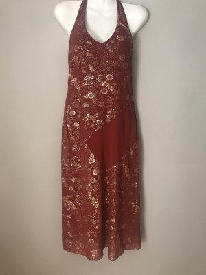 Halter Dress russet-gold-colored